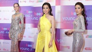 Hoa hậu H'Hen Niê diện váy xuyên thấu đọ vẻ gơi cảm bên dàn mỹ nhân Việt trên thảm đỏ sự kiện