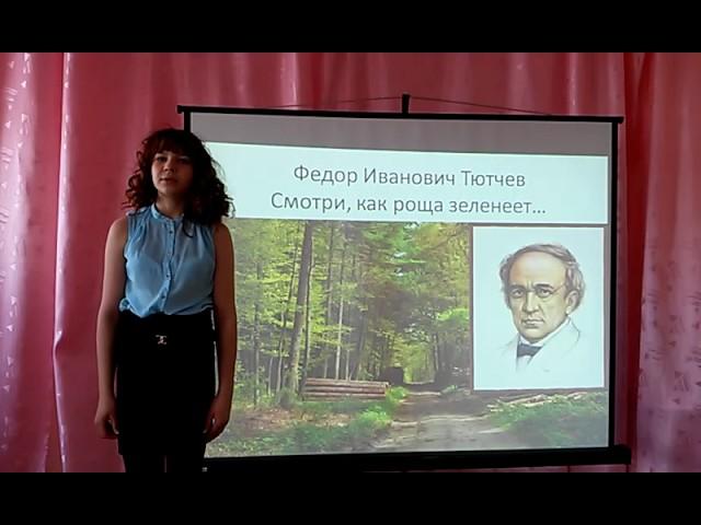 Изображение предпросмотра прочтения – ТатьянаБелозерова читает произведение «Смотри, как роща зеленеет…» Ф.И.Тютчева
