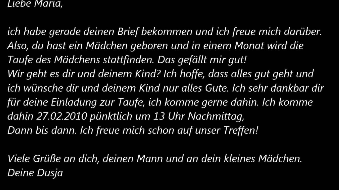 Deutsche Brief A1 A2 B1 Prüfung 44 Youtube
