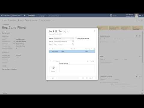 Creating Marketing Campaigns - Microsoft Dynamics 2013