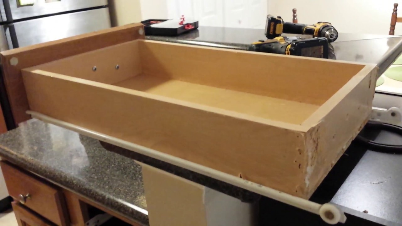 How To Repair A Kitchen Drawer Where Front Came Off
