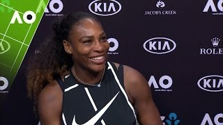 Serena Williams talks wedding plans | Australian Open 2017