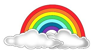 How to Color a Rainbow step by step