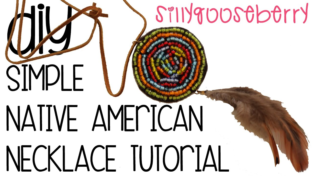 Simple native american necklace tutorial youtube for Easy native american crafts