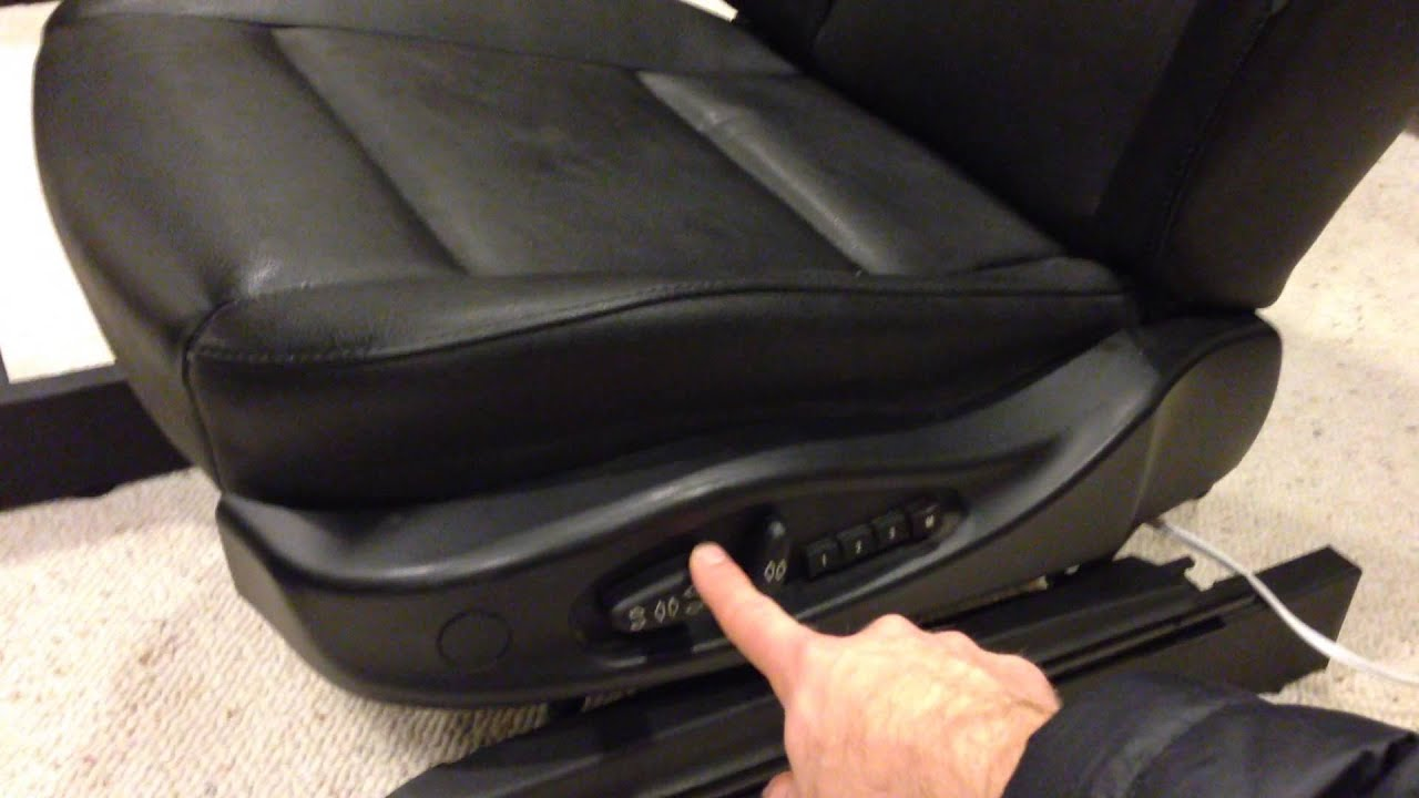E46 Seat Operating on Power Supply  YouTube