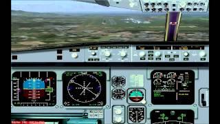 FS2004 - Olympic Air - Landing at LGAV (Athens,Greece)