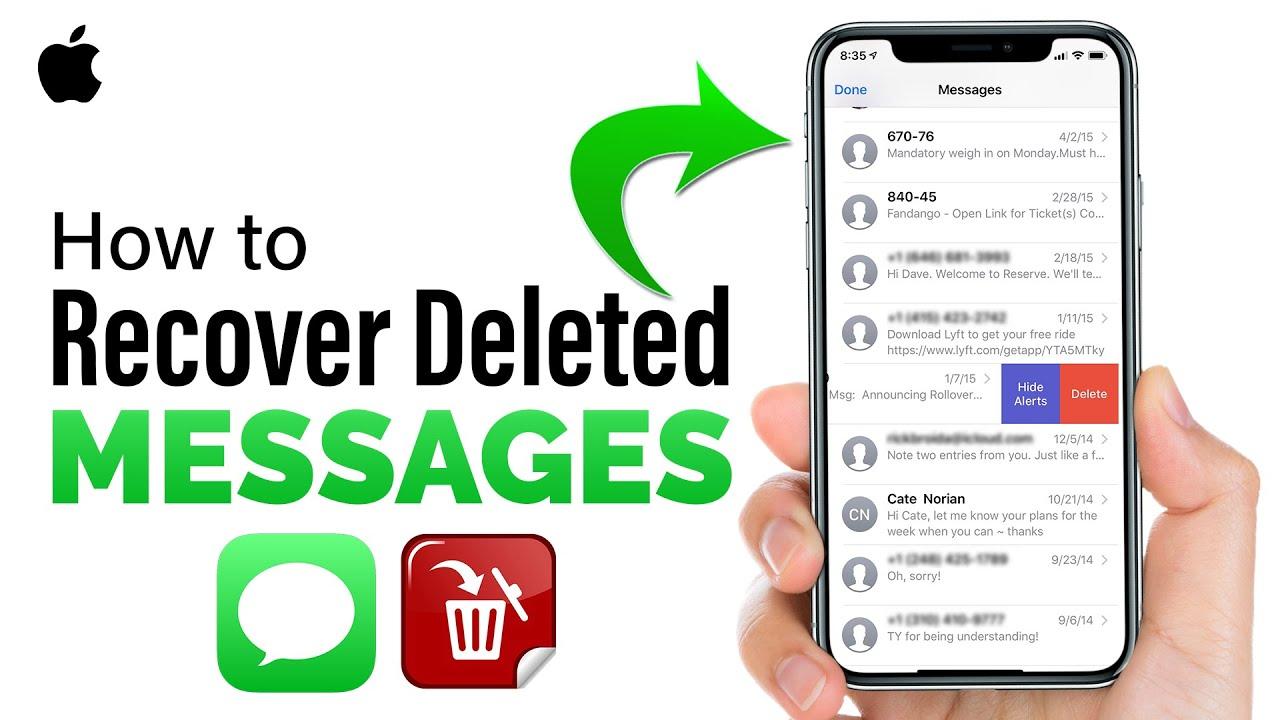 Retrieve deleted texts iphone 5
