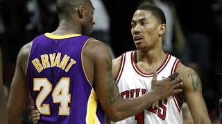 mvp derrick rose vs kobe bryant sick duel 2010 12 10 52 pts 16 dimes combined must watch