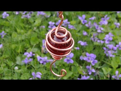 Copper wind charm