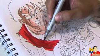 Dibujando a Gohan y Trunks(Drawing DBZ)NITO OCHOA