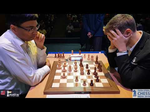 Vishy Anand vs Sergey Karjakin | Tata Steel Chess India Blitz 2018
