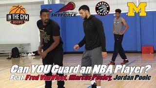 Can YOU Guard a 6 ft NBA Player? Feat  Raptor Fred VanVleet, Marcus Posley + Jordan Poole