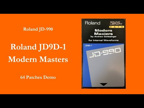 Roland JD9D-1 Modern Masters - 64 Patches Demo - 100% sound - no talking