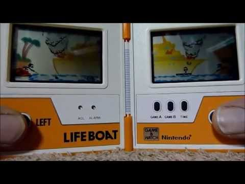 Nintendo Game and Watch - Lifeboat. Review and Play Demo. [HD] 2014