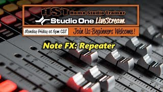 Note FX: Repeater in Studio One 3 and 4