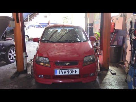Ремонт автомобиля Chevrolet Kalos, выявление утечки газа из кондиционера и устранение проблемы