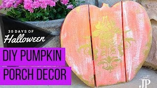 DIY Gilded Wood Pumpkin Decoration JPhalloween