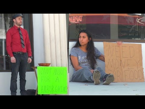 Rich Man VS Homeless Girl! (Social Experiment)
