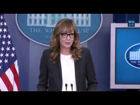 West Wing Actor Surprises Reporters At White House Press Briefing