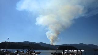 Forest Fire Sechelt Sunshine Coast BC