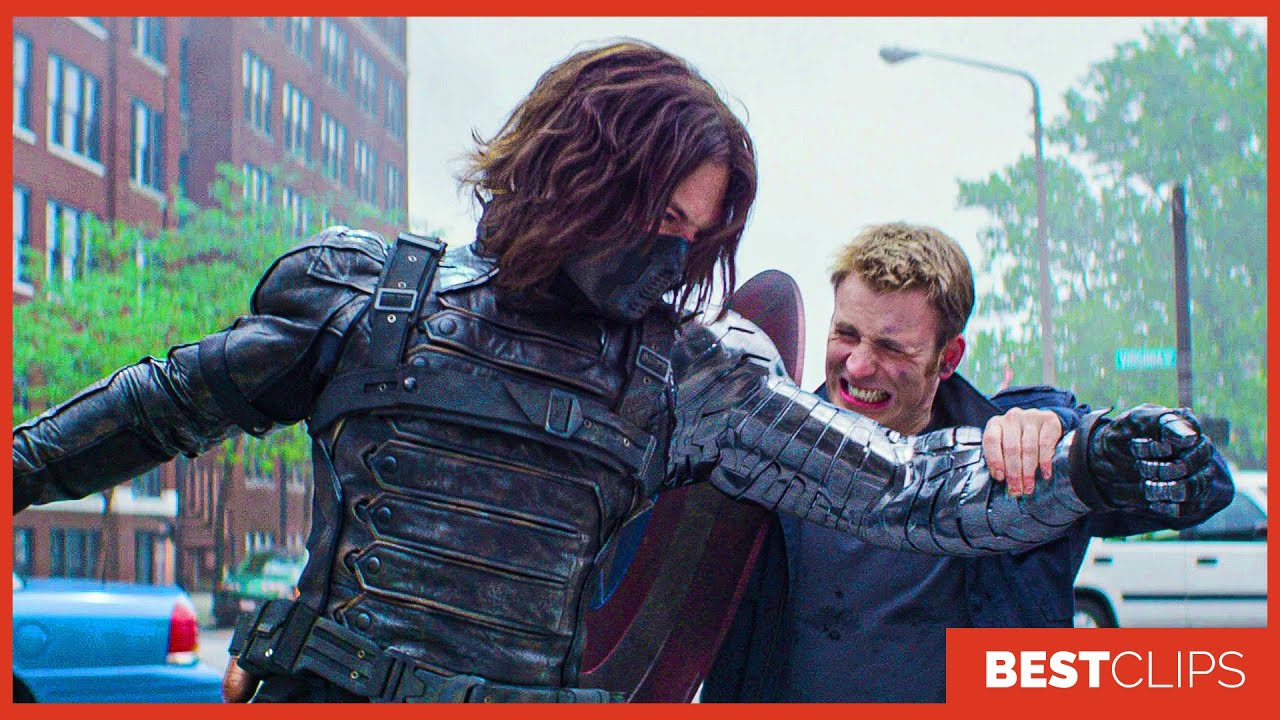 Captain America Vs The Winter Soldier - Fight Scene | Captain America The Winter Soldier Movie CLIP
