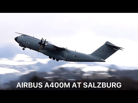 [HD] Royal Air Force Airbus A400M (Atlas) [ZM403] Start Up & Takeoff from Salzburg