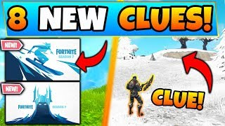 Fortnite SEASON 7 SKINS + SNOWY MAP Change?! - 8 Clues & Theories in Battle Royale's Next Update!