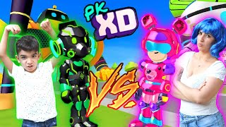 DESAFIO das ARMADURAS na CIDADE do PK XD - Família Rocha Games - Gameplay