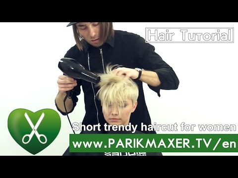 Short trendy haircut for women. parikmaxer TV USA