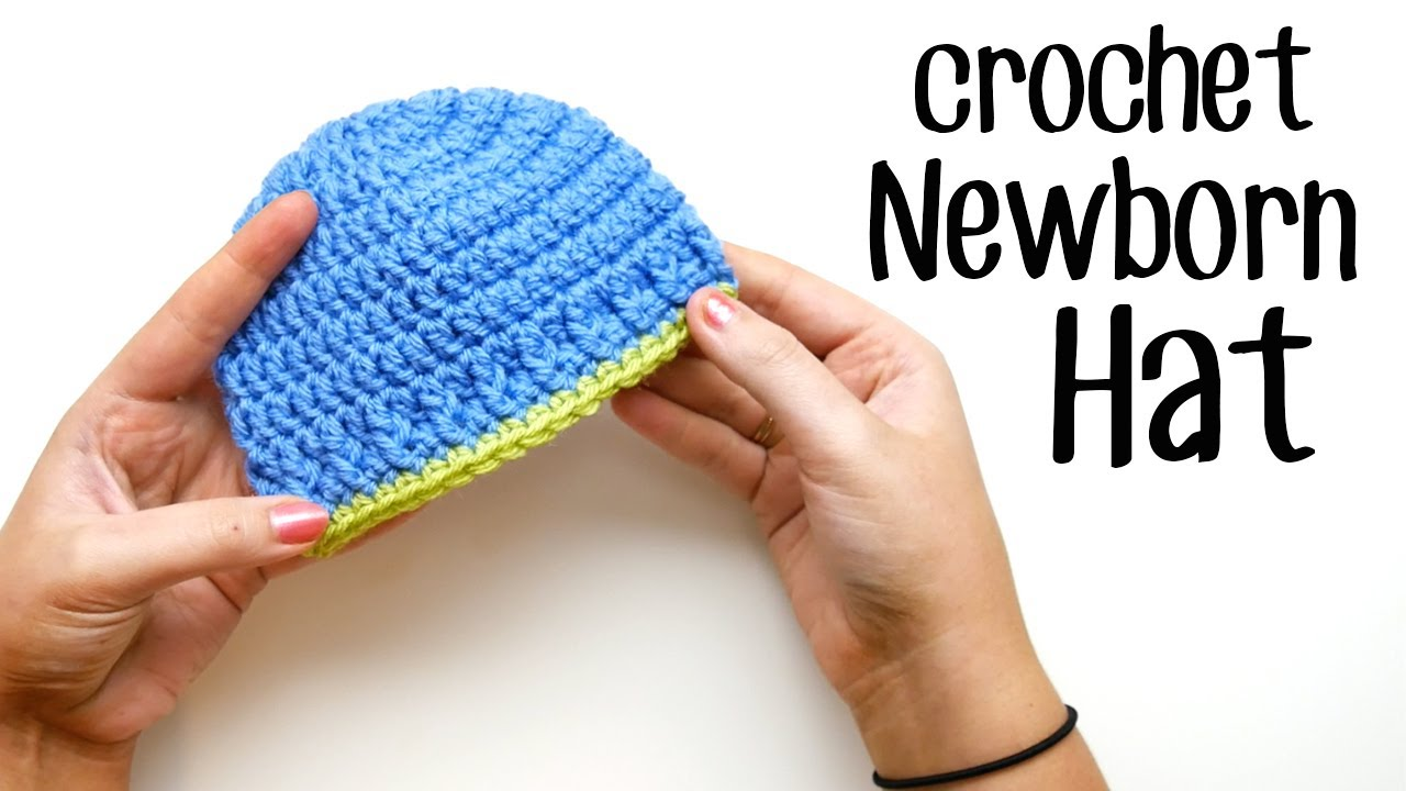 Easy Crochet Baby Hat - Parker Newborn Beanie - YouTube