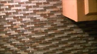 How To Install Tile Backsplash...mosaic glass