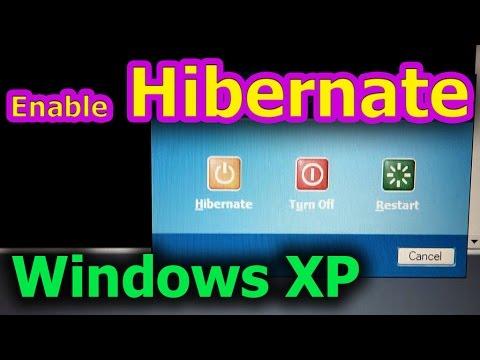 How to enable Hibernate under Windows XP (laptop)