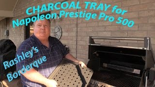 Review of Charcoal Tray for Napoleon Prestige Pro500 Gas Grill Bonus Texas Burger Cook