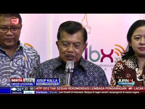 JK Hadiri Indonesia Broadcasting Expo 2016