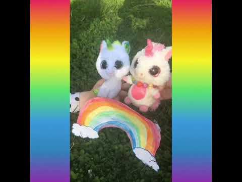 """Pink fluffy unicorns dancing on rainbows"" beanie boo's music video"