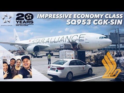 IMPRESSIVE Economy Class Service | Singapore Airlines Star Alliance | SQ953 Jakarta to Singapore