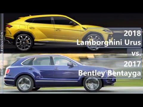 2018 Lamborghini Urus vs 2017 Bentley Bentayga - World's fastest SUVs (technical comparison)