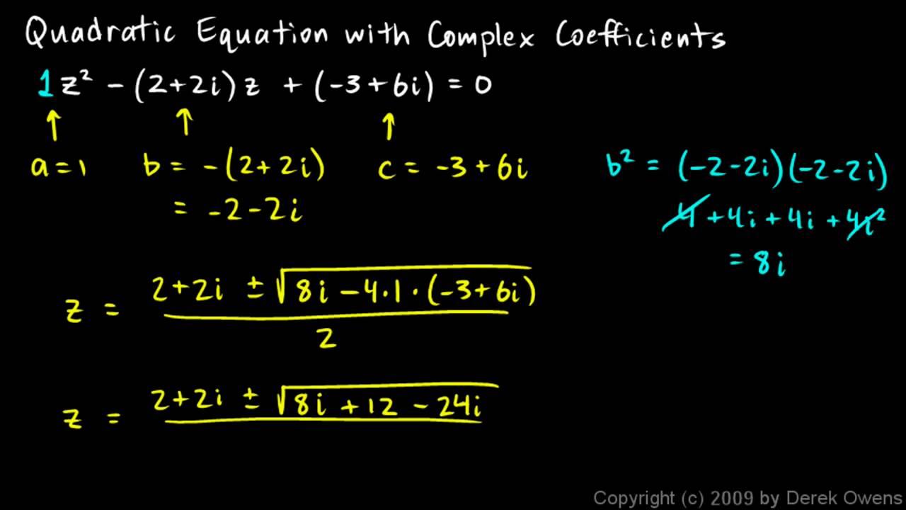 Complex Quadratic Equations (with videos, worksheets, games ...
