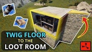This Base Had ONE TWIG FLOOR To The LOOT ROOM! - SOLO RUST