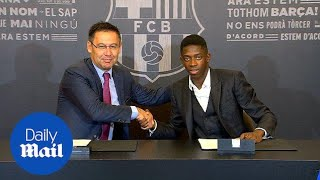 Ousmane Dembele signs contract with Barcelona - Daily Mail
