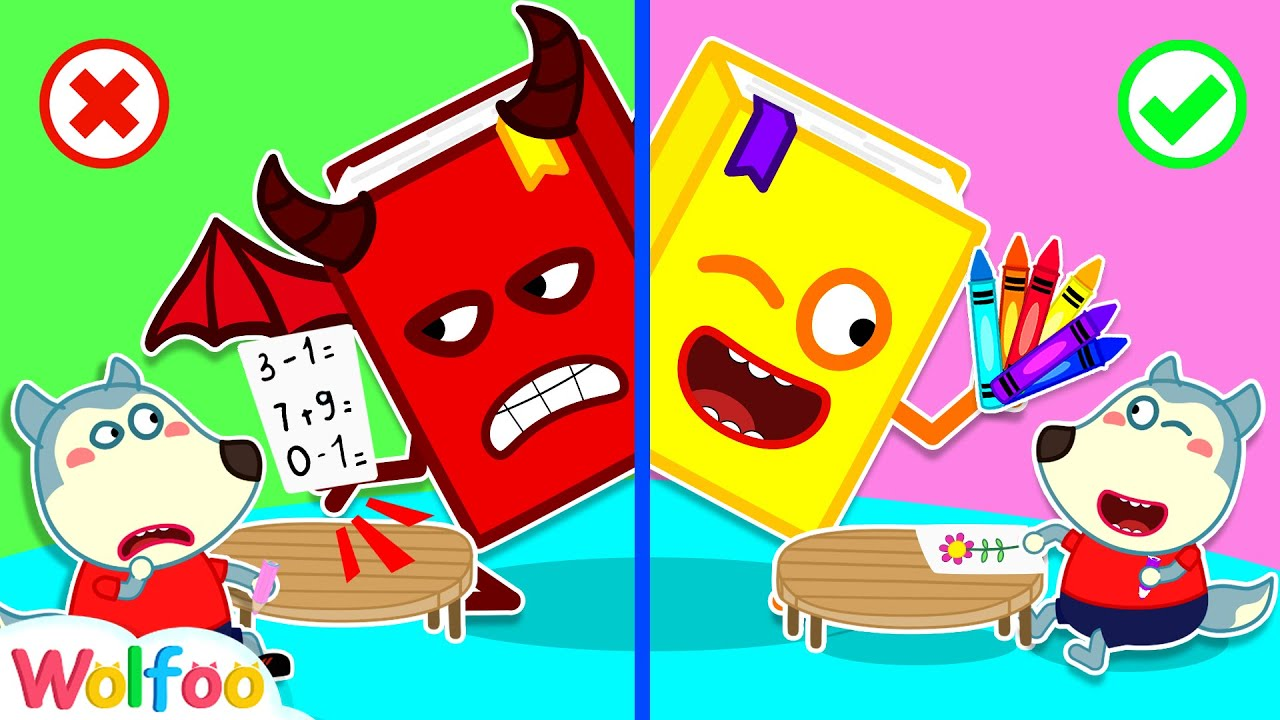 Download No No Wolfoo! Stay Away From the Bad Book - Educational Video for Kids   Wolfoo Channel Kids Cartoon