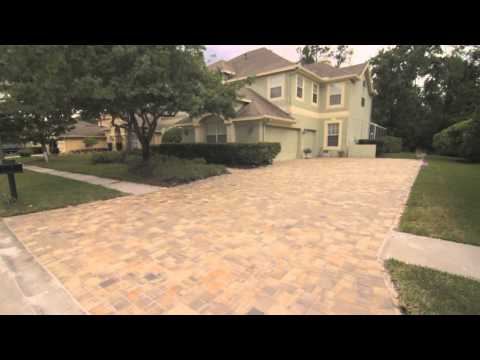 Brick pavers driveway, Walk way, And patio in Tampa (Westchase)