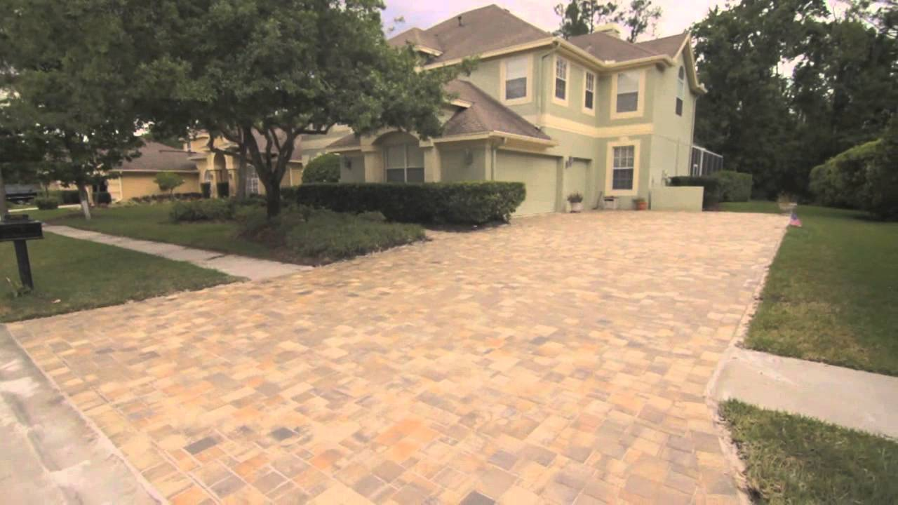 Brick pavers driveway, Walk way, And patio in Tampa (Westchase ...