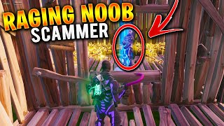 Raging Noob Scammer Scams Himself! (Scammer Gets Scammed) In Fortnite Save The World Pve