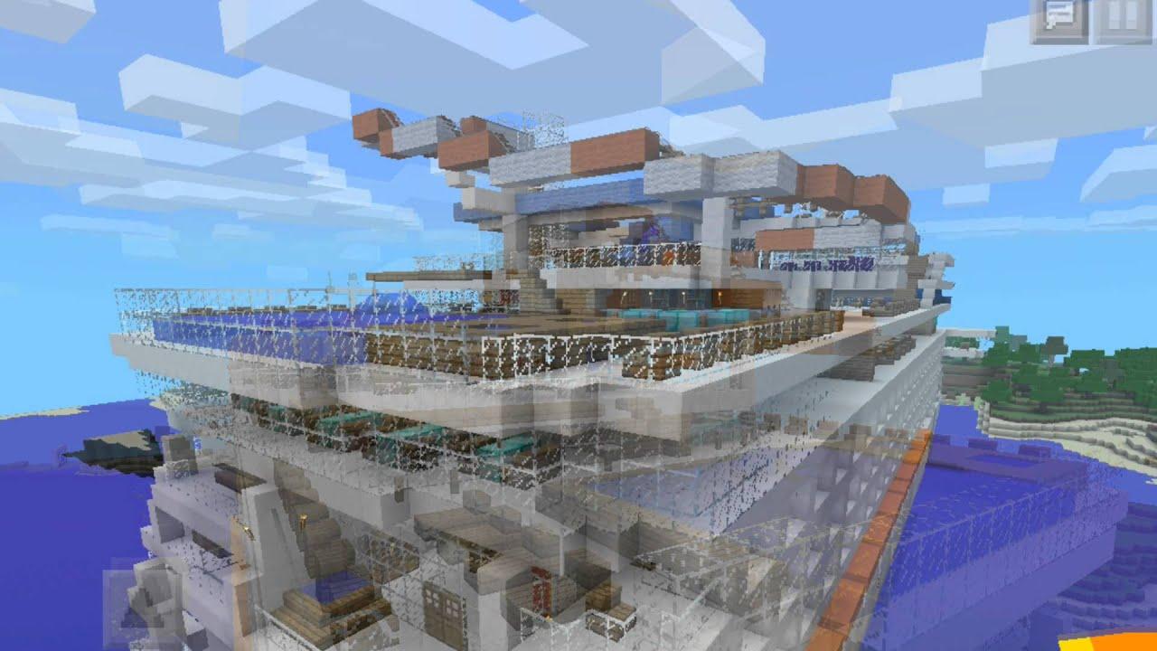 Minecraft Pe Cruise Ship - YouTube