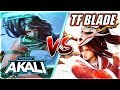 PROFESSOR AKALI VS. TF BLADE! CHALLENGER RANK 1 NA VS. MASTER AKALI - League of Legends