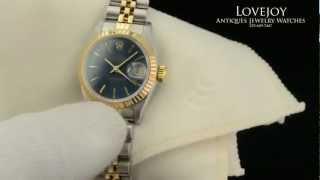 Ladies Rolex DateJust 18k/SS Watch Date Just 69173 Wristwatch Gold Stainless