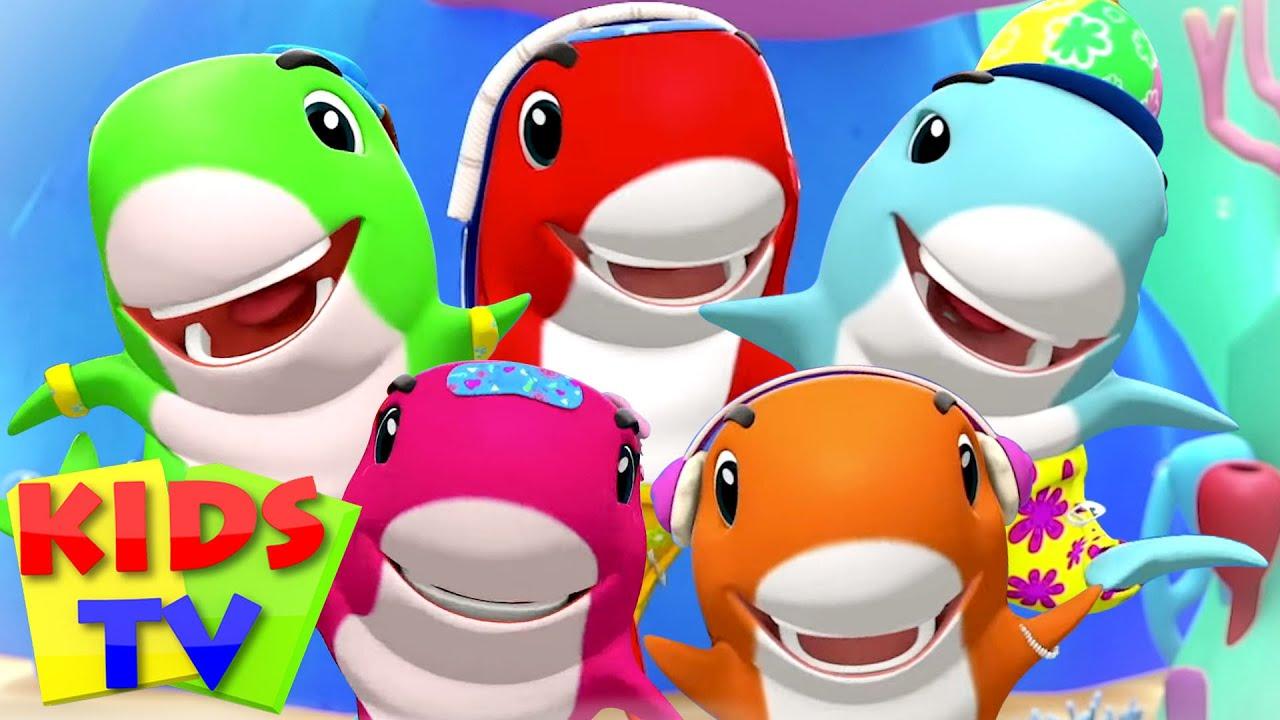 Five Little Baby Sharks | Finger Family Song + More Nursery Rhyme & Baby Songs | Kids Tv Songs