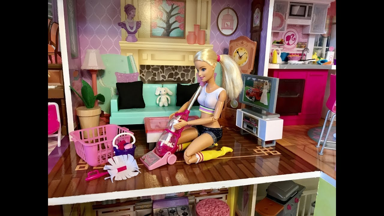 Barbie Bedroom Morning Routine House Cleaning Youtube