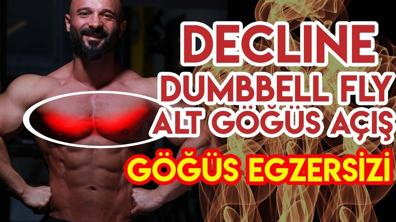 Sarkan Göğüsleri Toparlayın - 2 Decline Dumbbell Fly Nasıl yapılır